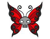 Disegno Emo Farfalla pitturato su gabri