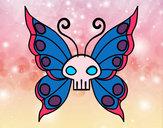 Disegno Emo Farfalla pitturato su vincenzo