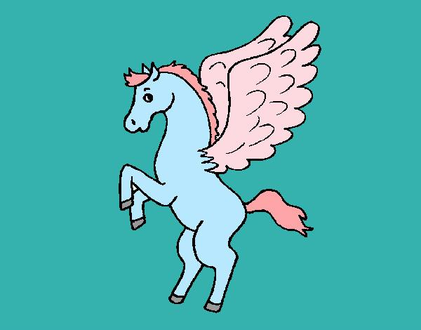Disegno pegaso colorato da erika il 08 di aprile del 2012 for Fantastici disegni di garage