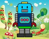 Disegno Robot alto pitturato su Giusi