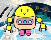 Disegno Robot con le pinzette pitturato su baby77