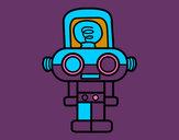 Disegno Robot con luce pitturato su GIORGIO