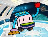 Disegno Robot di pulizia pitturato su gabrydiddi