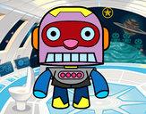 Disegno Robot galattico pitturato su baby77