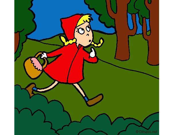 Disegno Cappuccetto Rosso Si Perde Nel Bosco Colorato Da Rossa Il