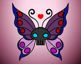 Disegno Emo Farfalla pitturato su simo98xd