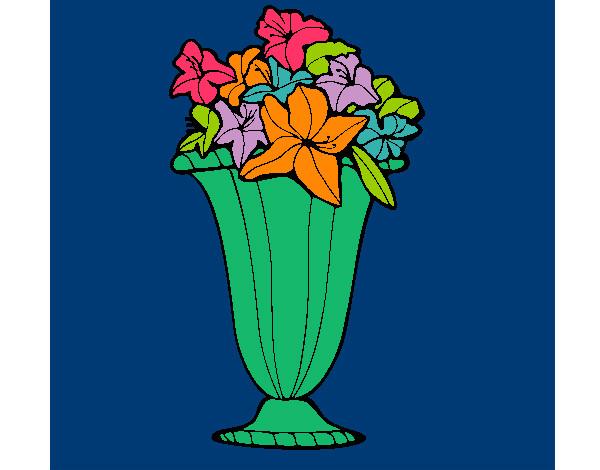 Disegno vaso di fiori colorato da giuls il 23 di aprile for Fiori da vaso