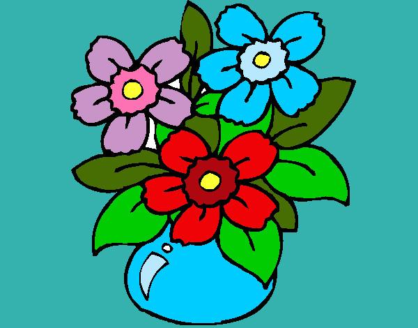 Disegno vaso di fiori colorato da immy il 01 di maggio del for Vaso di fiori disegno