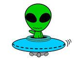Disegno Alieno pitturato su enya931