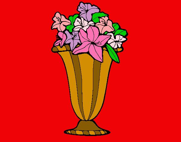 Disegno vaso di primule colorato da lara il 12 di maggio for Primule da colorare