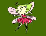Disegno Fata con alas pitturato su CatignaniB