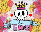Disegno Love Emo pitturato su Aurale