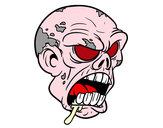 Disegno Testa di zombie pitturato su Luca