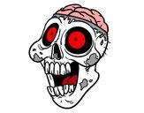 Disegno Zombie malevolo pitturato su Luca