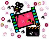 Disegno Cinema pitturato su alice99