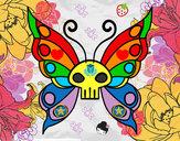 Disegno Emo Farfalla pitturato su CrystalZ98
