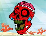 Disegno Zombie malevolo pitturato su Squalo