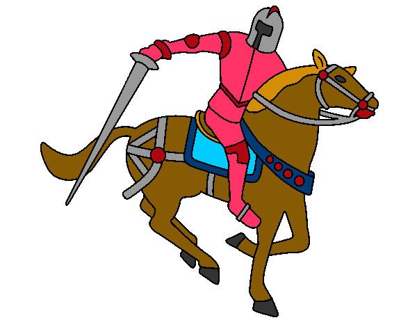 Disegno cavaliere a cavallo iv colorato da sarina il 02 di - Cavaliere modello a colori ...