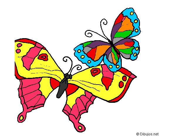Disegno farfalle colorato da marigenny il 03 di giugno del - Immagini di farfalle a colori ...