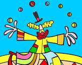 Disegno Pagliaccio giocoliere pitturato su KEVINC