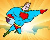Disegno Supereroi grosso pitturato su Ste99