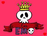 Disegno Love Emo pitturato su rocksana