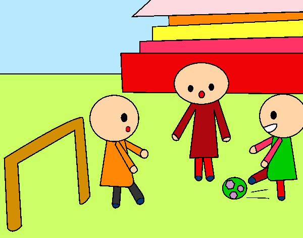 Preferenza Disegno Bambini che giocano a calcio colorato da Orianac il 12 di  ZH55