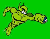 Disegno Superhero senza una cappa pitturato su Squalo