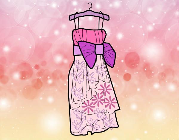 Amato Disegno vestito da sera colorato da Clelia il 22 di Giugno del 2012 VJ02
