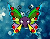 Disegno Emo Farfalla pitturato su Ste99