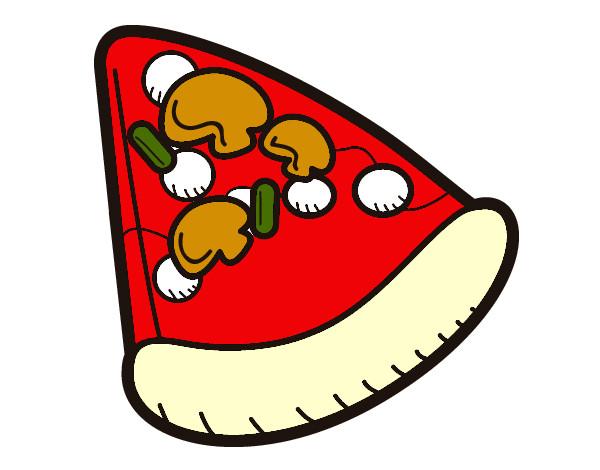 Disegno Fetta Di Pizza Colorato Da Marigenny Il 20 Di Giugno Del 2012