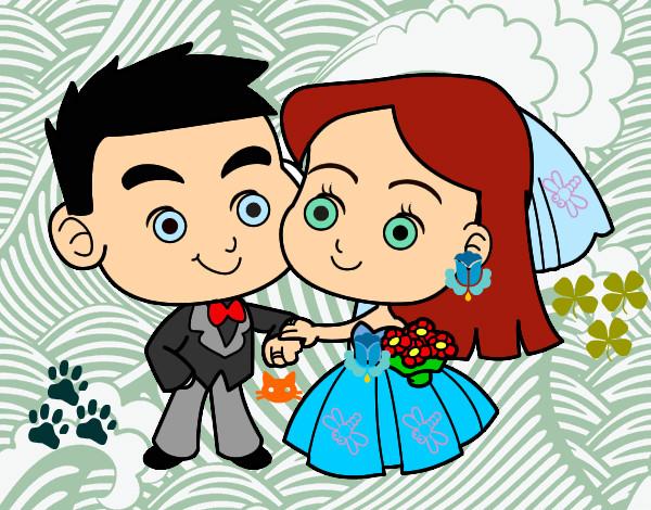Disegno sposi colorato da helena il 22 di giugno del 2012 for Disegno sposi
