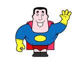 Disegno Saluto supereroe pitturato su ChiccoAC
