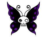Disegno Emo Farfalla pitturato su Alessiamas