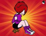 Disegno Emo Girl pitturato su Alessiamas