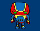 Disegno Robot forte pitturato su ChiccoSim
