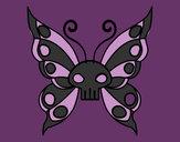 Disegno Emo Farfalla pitturato su nicoemma