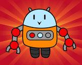 Disegno Robot con le pinzette pitturato su FILO
