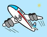 Disegno Aeroplano rapido pitturato su Leoleti