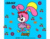 Disegno Amy pitturato su lori