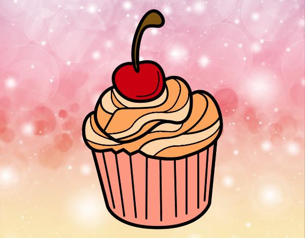 Disegno il pasticcino delizioso colorato da kiara il 11 di for Disegni da colorare ciliegie
