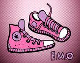 Disegno Pantofole pitturato su Avril