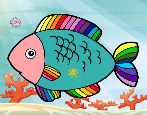 Disegno pesciolino arcobalenino colorato da kiara il 11 di for Pesciolino da colorare