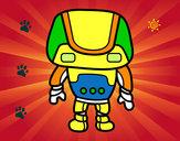 Disegno Robot forte pitturato su MATTIA747