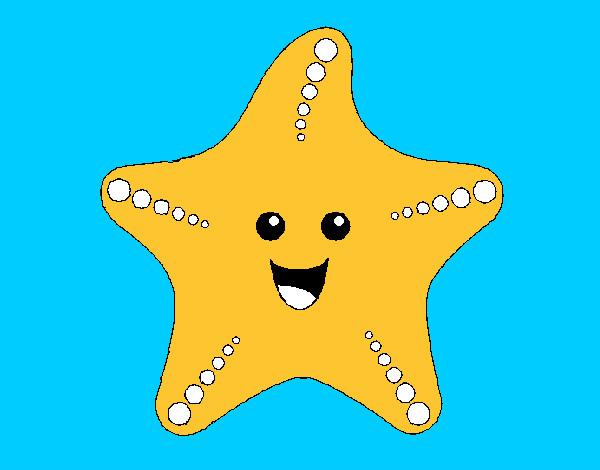 disegno la stella marina 2 colorato da fefecolour il 22 di luglio ... - Disegno Stella Colorate