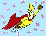 Disegno Superhero volare pitturato su goldchild