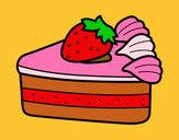 Disegno Torta di fragole pitturato su silvia