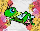 Disegno Cavalletta divertente  pitturato su carol1