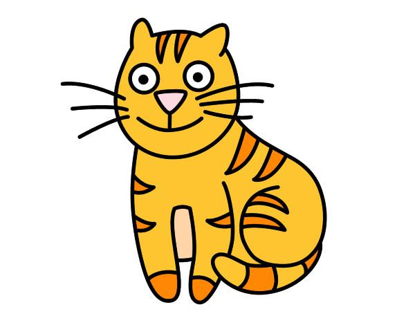 Disegno Gatto Seduto Colorato Da Nicoemma Il 25 Di Luglio Del 2012