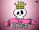 Disegno Love Emo pitturato su lau452000